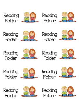 My Reading Folder labels