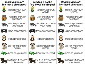 My Reading Friends Poster Pack #2 (Comprehension Reading Strategies)