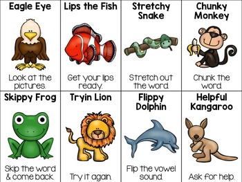 My Reading Friends Poster Pack {decoding reading strategies}