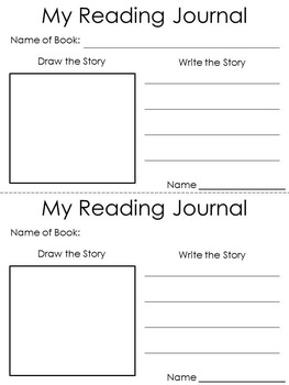Reading Response Journal to Use with any Picture Book or Read Aloud