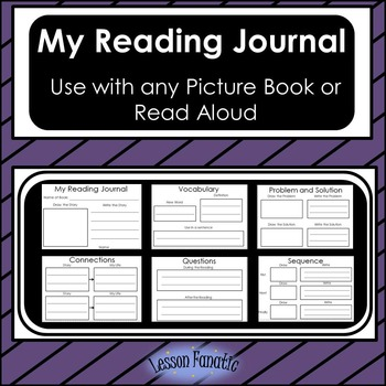 My Reading Journal:  A Journal to Use with any Picture Boo