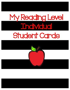 My Reading Level Student Cards