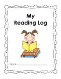 My Reading Log – Reading Response Book – Gr. Pre K, K, 1, 2