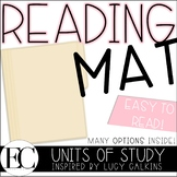 My Reading Mat: Inspired by Lucy Calkins Units of Study Re
