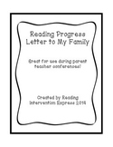 My Reading Progress: Letter to Family