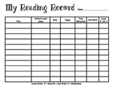 My Reading Record
