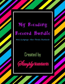 My Reading Record Bundle with Language Arts Florida Standards