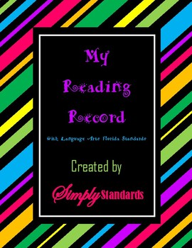 My Reading Record with Language Arts Florida Standards
