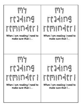 My Reading Reminder Bookmark