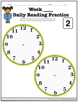 My Reading Time Bookmarks