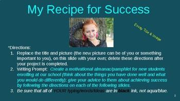 My Recipe for Success at Our School (Argumentative/Persuasive Essay) ppt