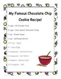 My Recipe for a Hero Writing Activity - Great for Terry Fox!