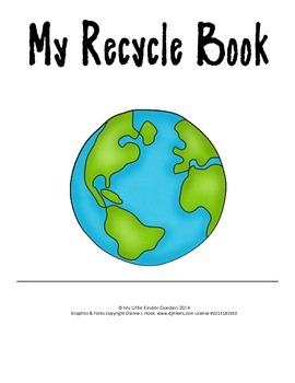 My Recycle Book-cans, glass, paper, plastic, Differentiated book for K
