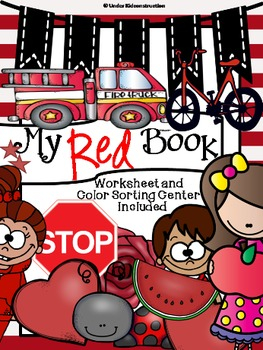 Color Books;Red; Worksheets, Cut/Paste Activity, and Color