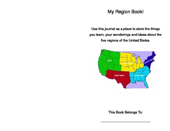 My Regions of the United States Book