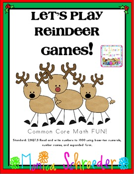My Reindeer Game! A Common Core Card Game for Place Value
