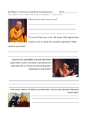 My Religion is Kindness Quote Response Assignment Dalai Lama Primary Source