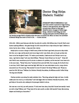 My Reluctant Teen Readers_Dr. Ruby Dog_the Diabetic Alert Dog