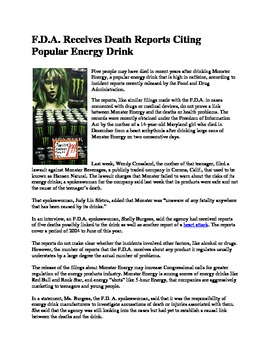 My Reluctant Teen Readers_Monster Energy Drinks Linked to Deaths