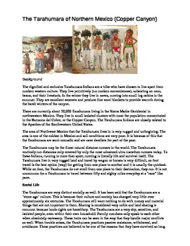 My Reluctant Teen Readers_The Tarahumara barefoot Running Tribe of Mexico