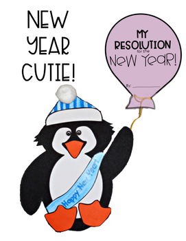 New Years Resolution -Writing and Craft - My Resolution for the New Year Penguin