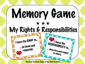 Rights & Responsibilities Memory Game