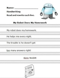 My Robot Does My Homework Handwriting