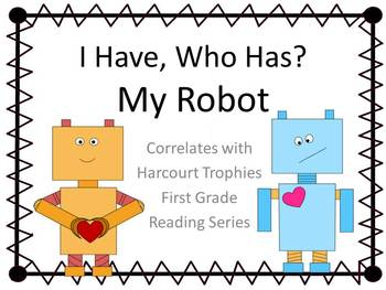 "My Robot ""I HAVE, WHO HAS?"" Sight Word Practice for Harcourt Trophies"