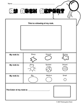 my rock report by kindergarten kiosk teachers pay teachers. Black Bedroom Furniture Sets. Home Design Ideas