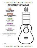 My Rockin' Behavior Preschool Coloring Page