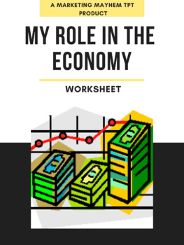My Role in the Economy Worksheet