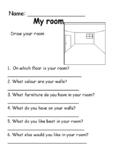 My Room (Creative writing plan worksheet) Average/high