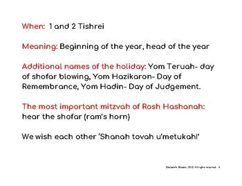 My Rosh Hashanah Activity Book!