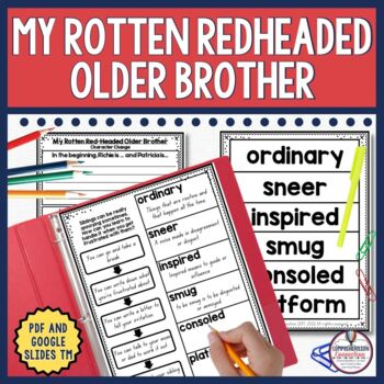My Rotten Redhead Older Brother is one of Patricia Polacco's most popular books. My Rotten Redheaded Older Brother is one every child with a sibling understands. This newly revised unit includes before/during/after activities that work well for guided reading, as mentor text lessons, for partners, and even for some centers with printable and digital options.