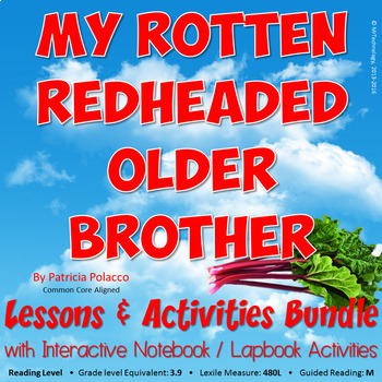 My Rotten Redheaded Older Brother Lessons & Activities Bun