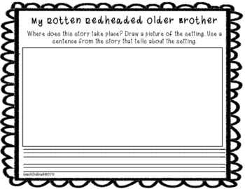 My Rotten Redheaded Older Brother Printable and Paperless Resources