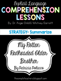 My Rotten Redheaded Older Brother - Summarize Comprehension Lesson Plan