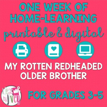 My Rotten Redheaded Older Brother: Week of ELA Activities for Distance Learning