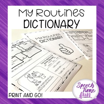 My Routines Dictionary (no prep activity for life skills)