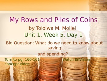 My Rows and Piles of Coins PowerPoint Reading Street 3.1.5