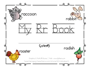 My Rr Book {letter study / sight words like & I}