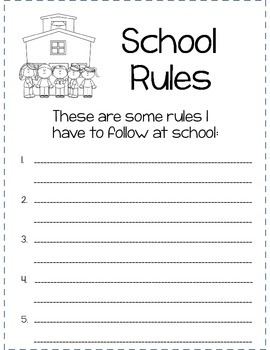 My Rules and Responsibilities Booklet