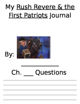 My Rush Revere and the First Patriots Journal