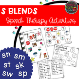 S Blends Speech Therapy Activities