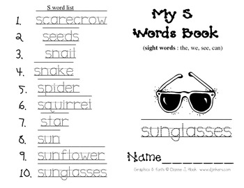 My S words Book