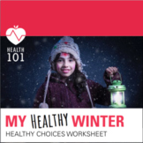 Elementary Health: Healthy Winter Choices - Matching Worksheet Activity!