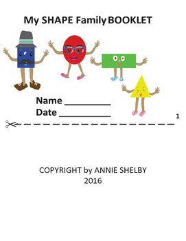 My SHAPE Family BOOKLET