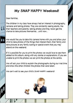 'My SNAP HAPPY Weekend'  A kids photography and Family Input Project