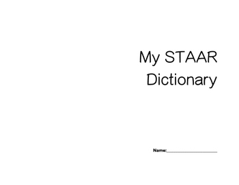 My STAAR dictionary
