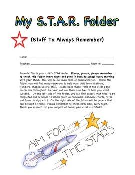 My STAR Folder - homework folder